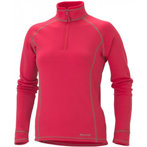 -Power stretch half zip mujer rose red marmot
